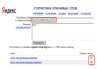 Wordstat Яндекса 4