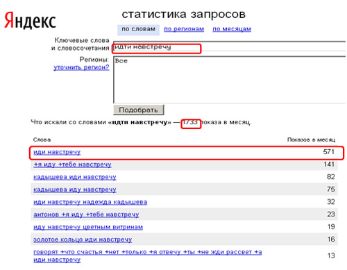 Wordstat Яндекса 6