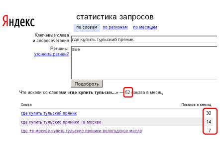 Wordstat Яндекса 7