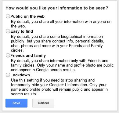 приватность google+