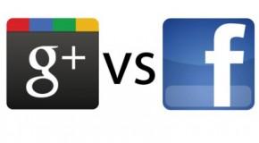 google+ и facebook