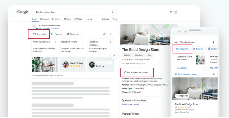Google позволил компаниям редактировать GMB-профили в Поиске и Картах