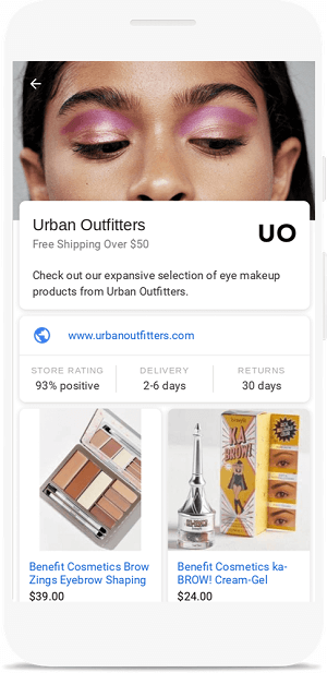 Google расширил показ товарных объявлений-витрин для сервиса Google Картинки