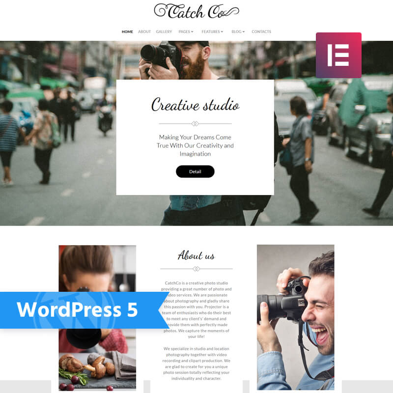 WordPress-шаблон Catch Co – Photo Studio Multipurpose Creative Elementor