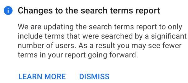Google Ads начнет показывать только популярные фразы в отчете «Поисковые запросы»