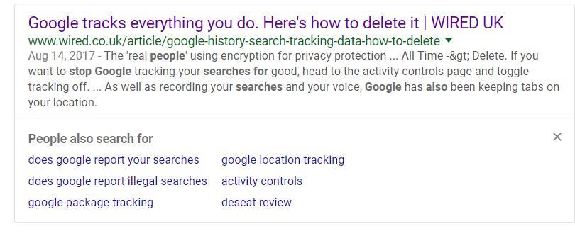 """""""Люди также ищут"""" в Google"""