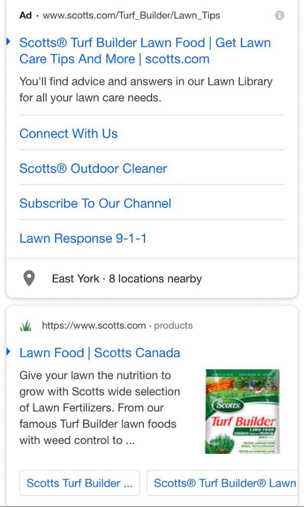 Google тестирует стрелки в заголовках результатов выдачи