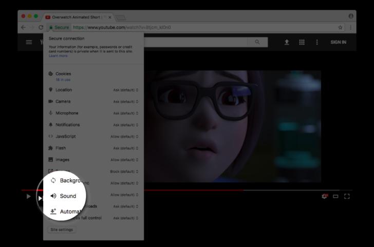 ВGoogle Chrome можно будет навсегда выключать звук налюбом сайте
