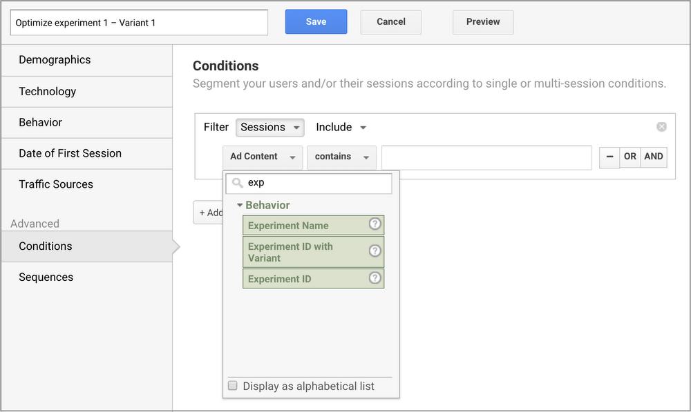 В Google Optimize добавили три новые функции