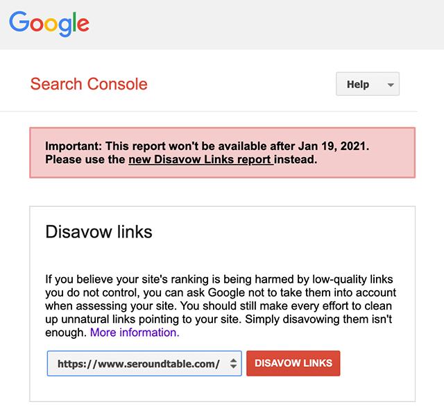 Google оповестил об отключении доступа к старой версии инструмента отклонения ссылок