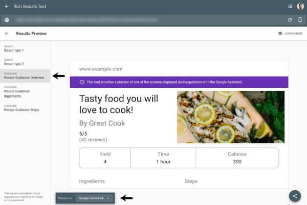 Google добавил отчеты по Guided Recipes в Search Console