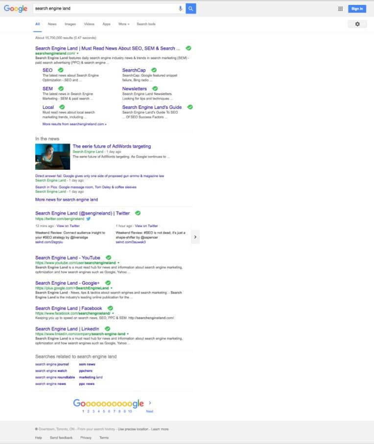 Новый интерфейс поисковой выдачи в Google