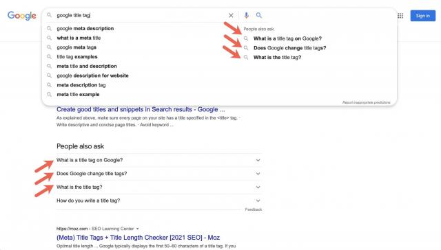 Google тестирует блок «Люди также ищут» в автоподсказках