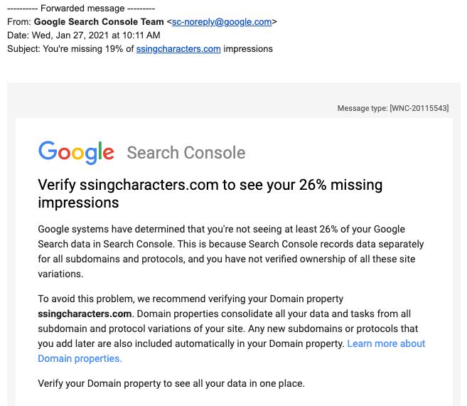 Google подтвердил, что Search Console разослал сообщения с ошибкой