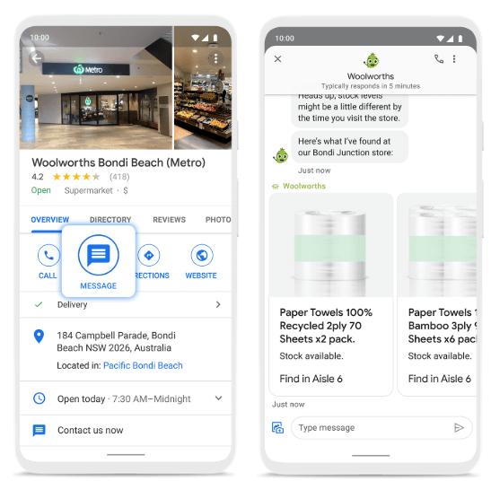 Google расширил возможности обмена сообщениями в Картах и Поиске
