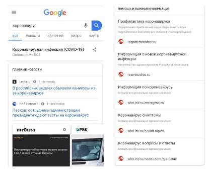 Google рассказал, как помогает пользователям во время пандемии