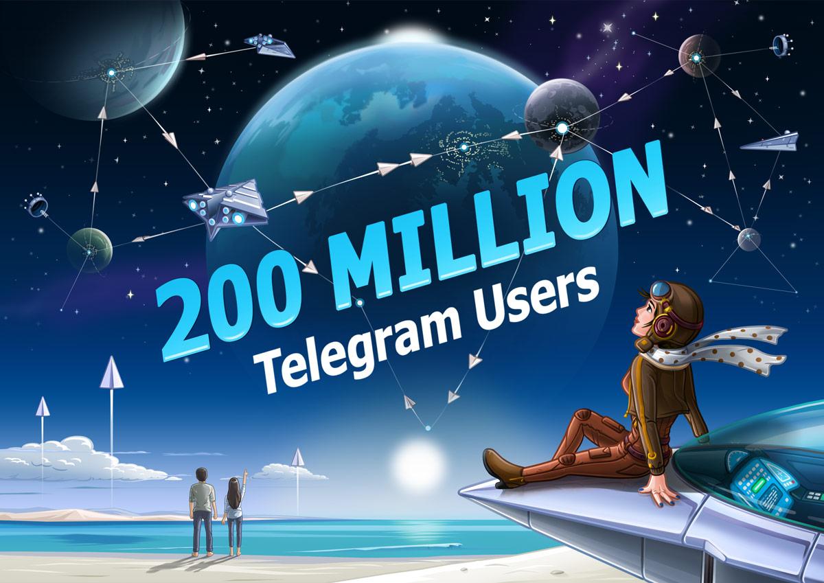 Аудитория Telegram удвоилась запоследние 30 дней