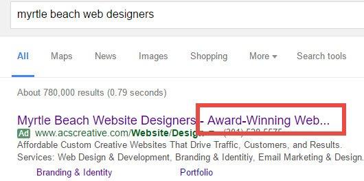 Как избежать усечения заголовков объявлений Google AdWords