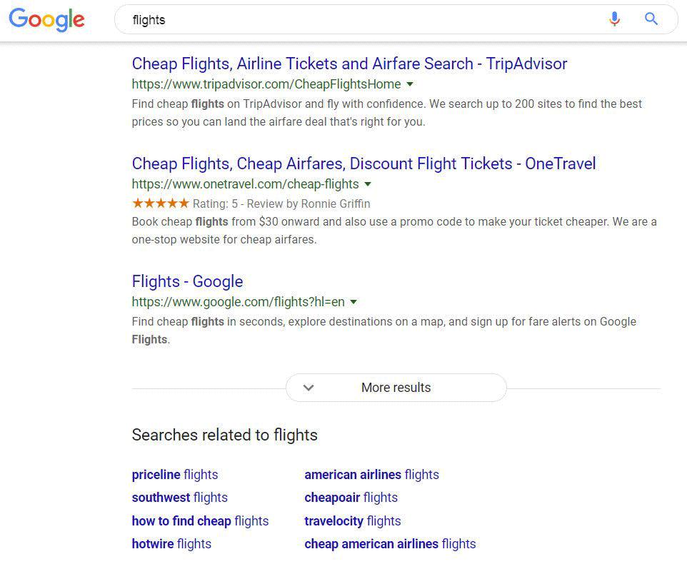 Google тестирует кнопку «Еще результаты» в десктопной выдаче