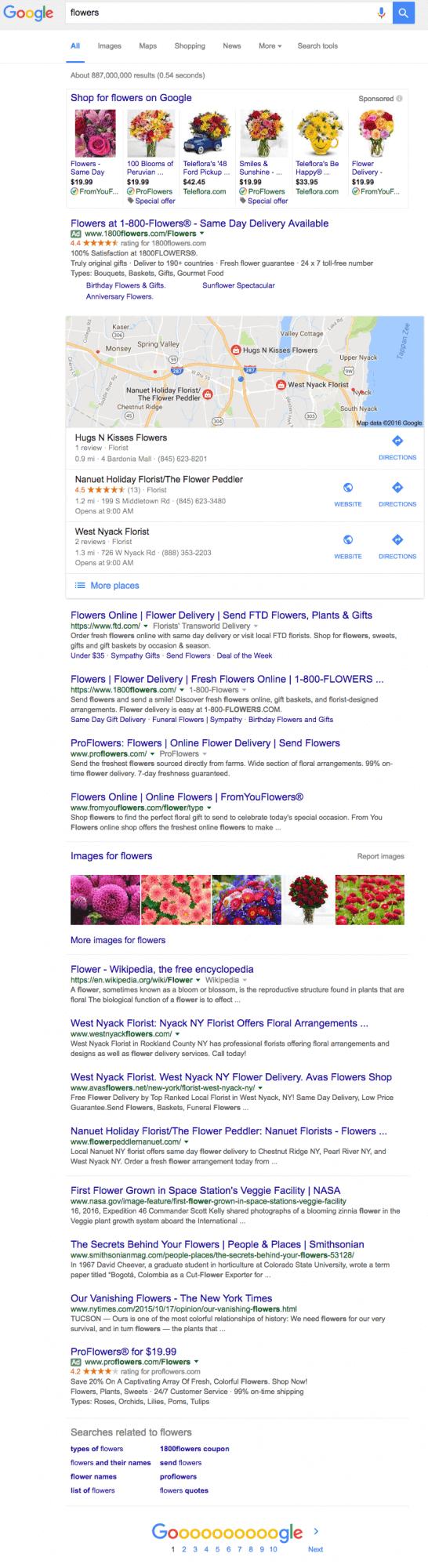 Google «понизил» блок с изображениями в поисковой выдаче