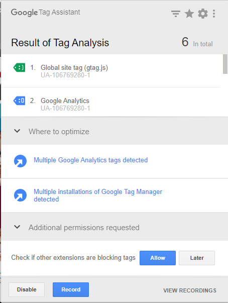 Tag Assistant (by Google)