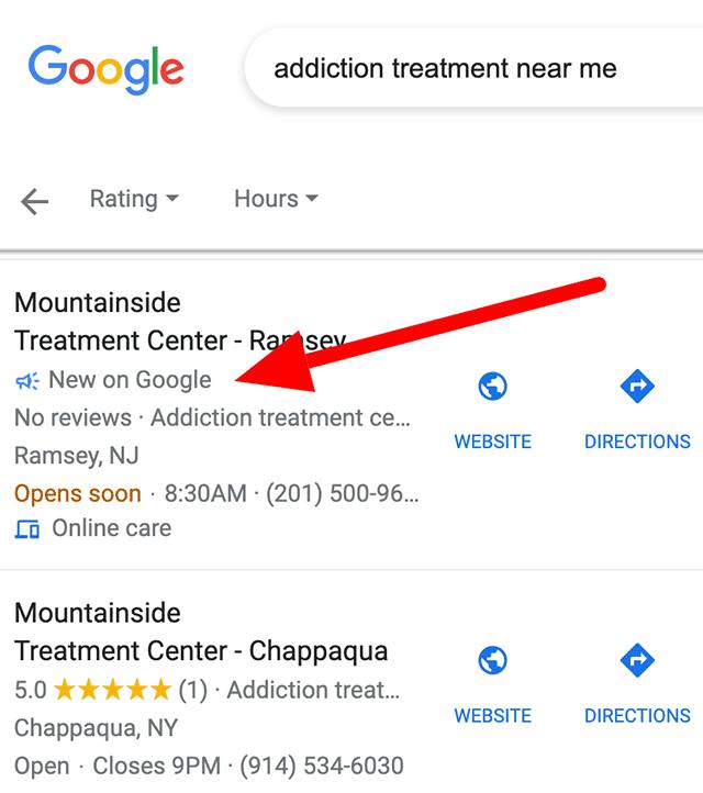 В локальной выдаче Google появился ярлык «New on Google»