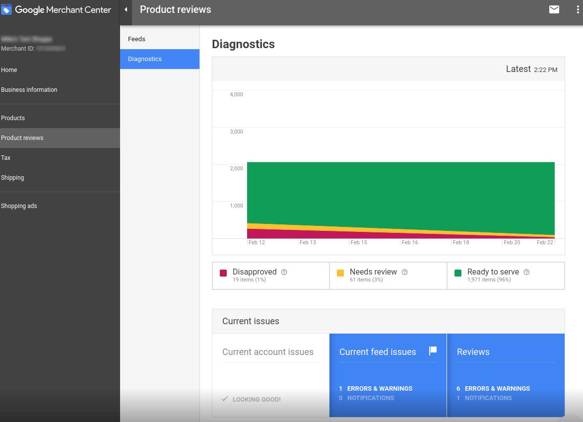 В Google Merchant Center появился новый раздел «Diagnostics»