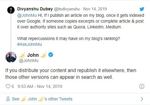 Повторно публикуете контент на других сайтах? Google может ранжировать их выше оригинала