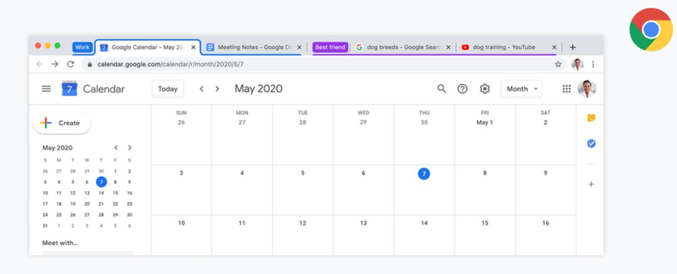 Google представил новую опцию для группировки вкладок в Chrome