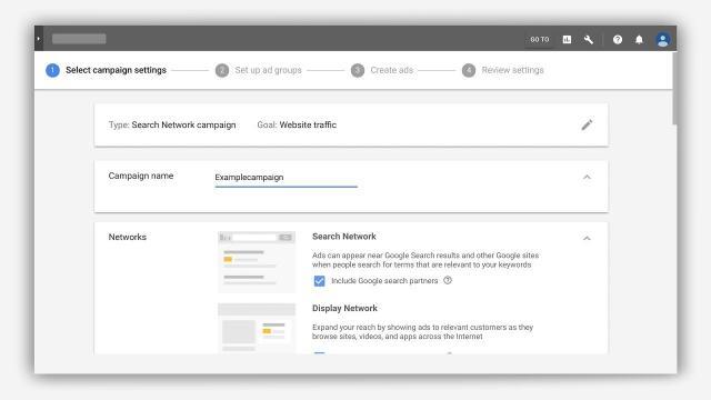 Google Ads тестирует новый интерфейс страницы настройки кампаний