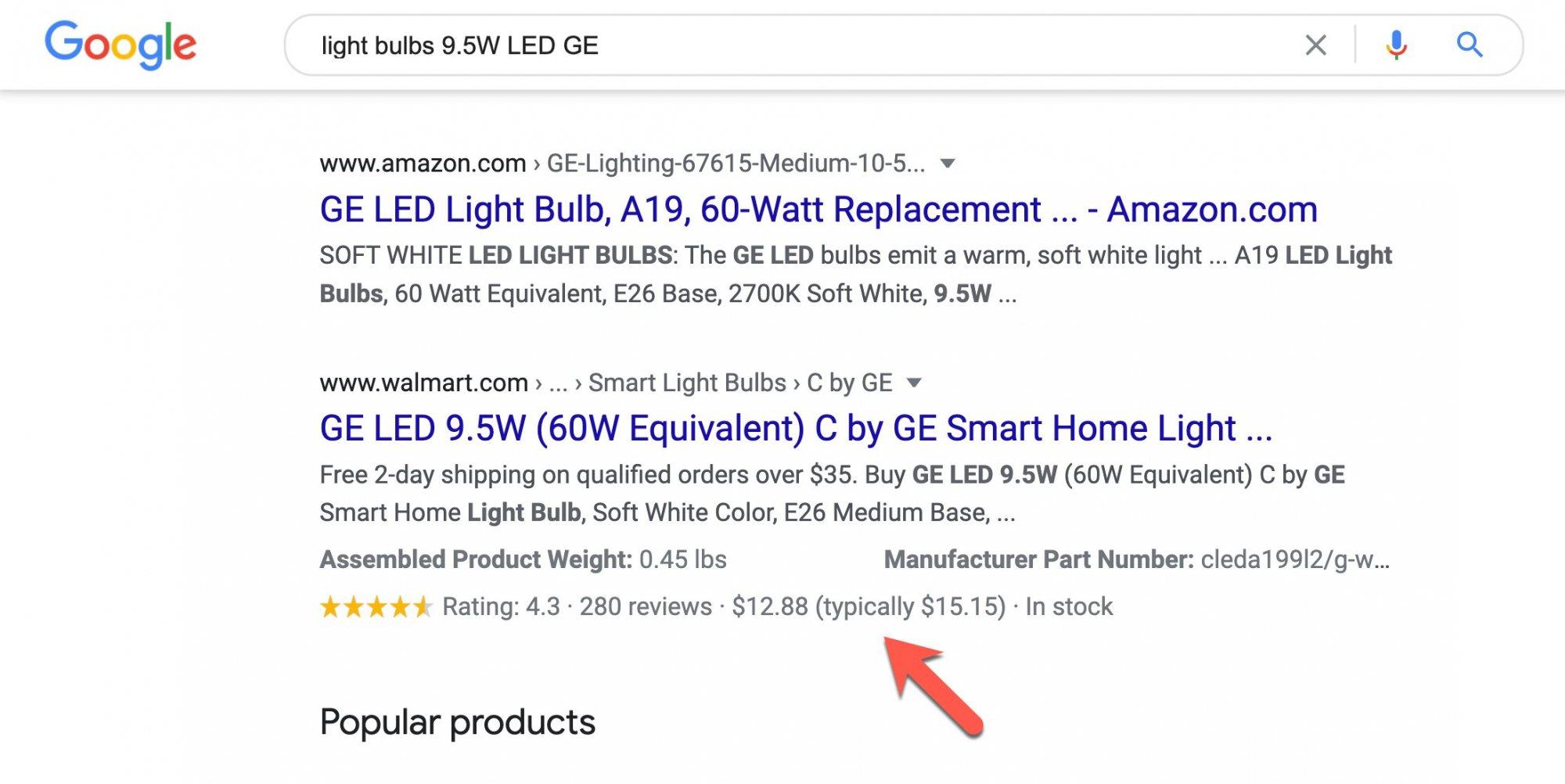В документации Google появился блок для показа информации о снижении цены на товар