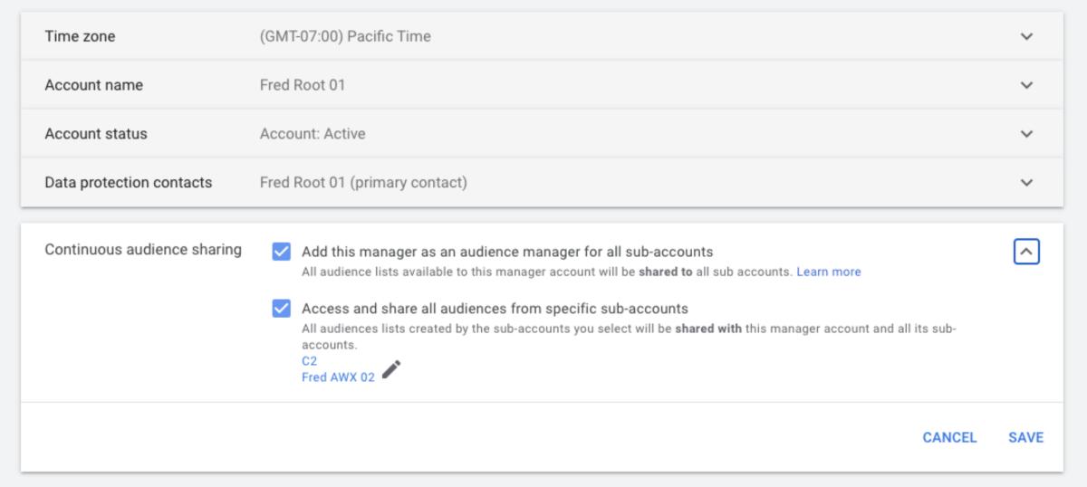 Google Ads позволит обмениваться списками ремаркетинга между дочерними аккаунтами