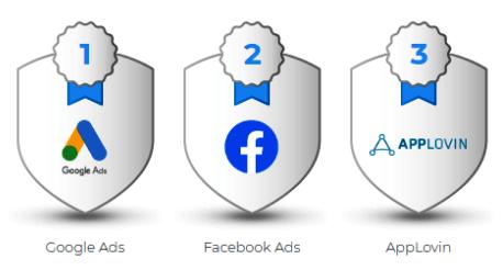 Google обогнал Facebook по числу атрибутированных установок