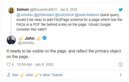 Джон Мюллер из Google сообщил, что нельзя использовать разметку FAQ для PDF-документов