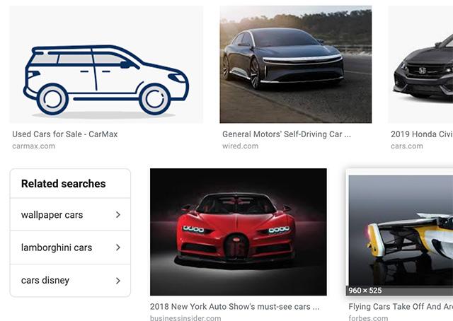Google начал показывать больше блоков с похожими запросами в Изображениях