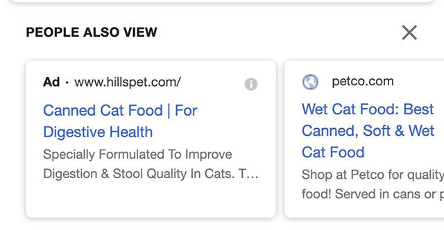 В карусели Google «Пользователи также смотрят» заметили рекламу