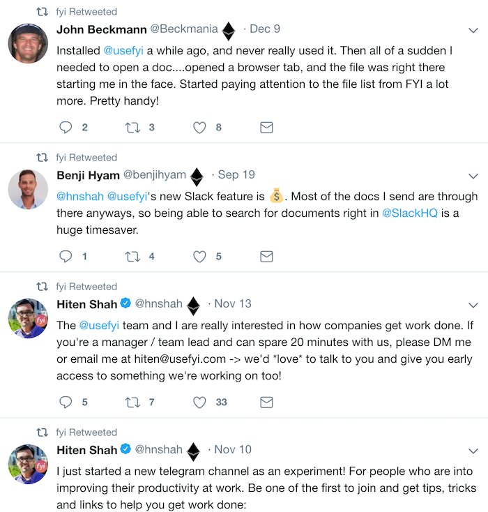 Пример обсуждения в twitter