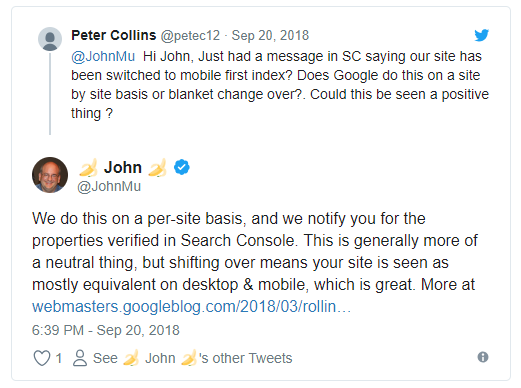 Google: переход на mobile-first завершится не скоро
