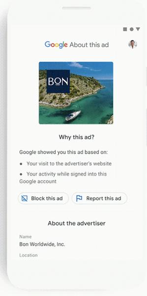 Google запустил новый инструмент для проверки рекламы Ad Transparency Spotlight