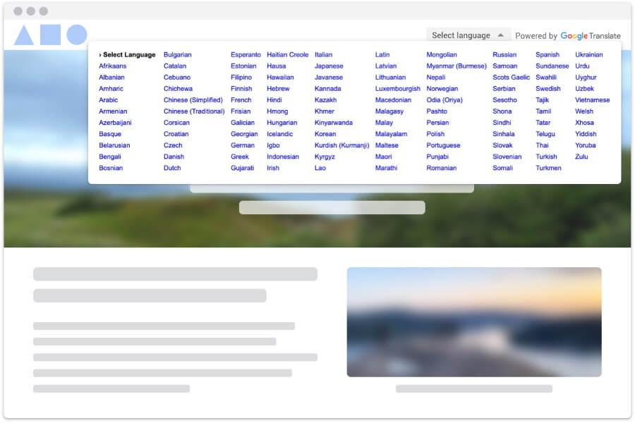 Google открыл бесплатный доступ к виджету Website Translator некоммерческим сайтам про COVID-19