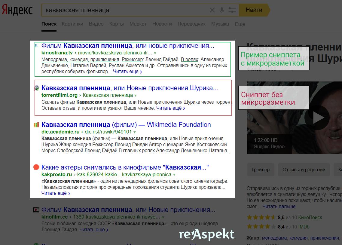 Разница сниппетов в поисковой выдаче с микроразметкой и без неё.png
