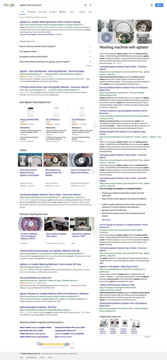 Google: показ 10+ ссылок в блоке с ответом – баг