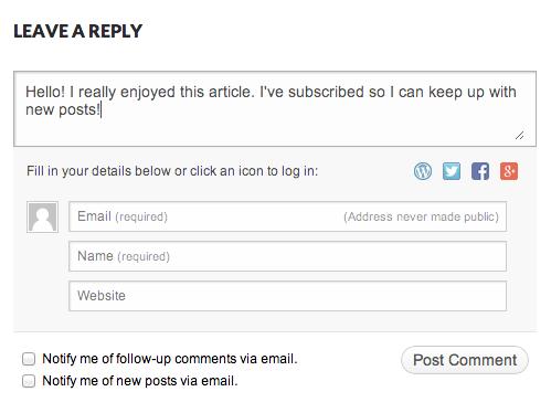 Комментарий для блога