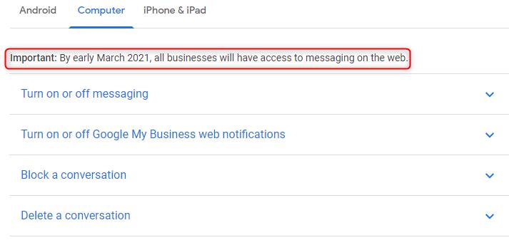 Google My Business добавит обмен сообщениями в десктопную версию