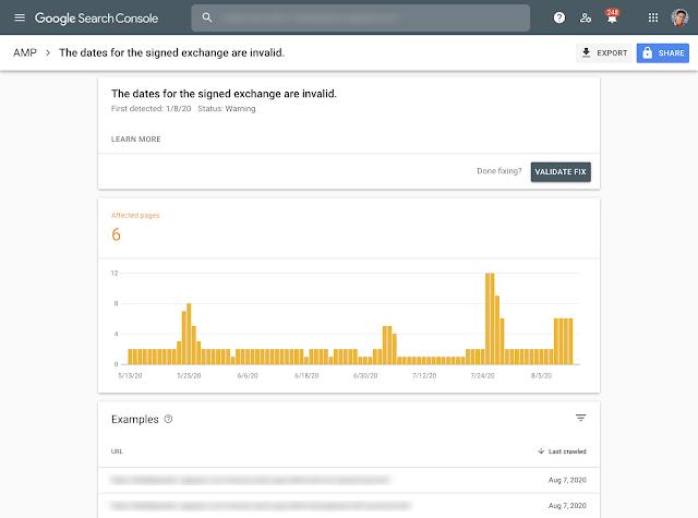 Google Search Console расскажет о проблемах AMP-страниц с технологией Signed Exchange