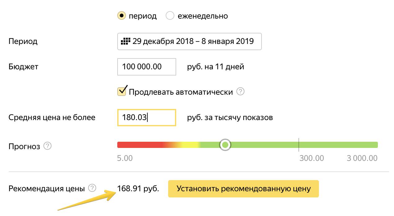 Яндекс начал рекомендовать оптимальный CPM для медийных кампаний