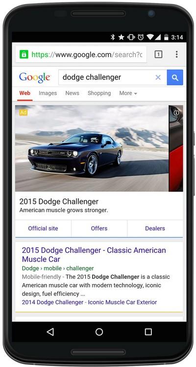 Результаты рекламы Google
