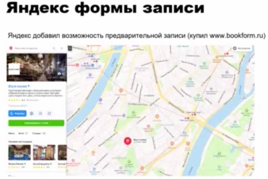 Возможность предварительной записи в Яндекс