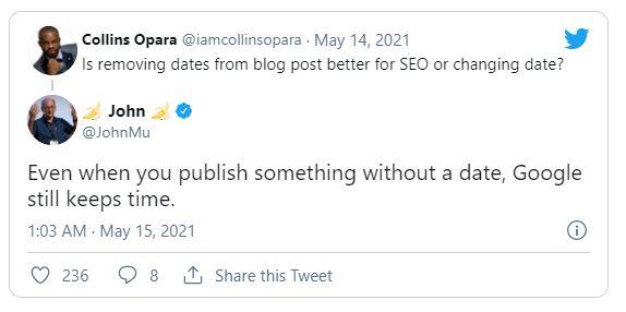 Что лучше для SEO: удаление даты из сообщения в блоге или ее изменение?
