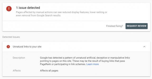 Google все еще наказывает ресурсы за неестественный ссылочный профиль